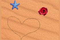 Malen im Sand
